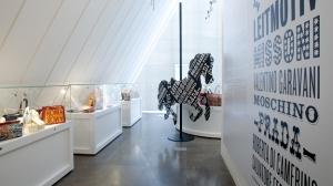Bolsas de marcas europeas en el museo Simone de Bolsas