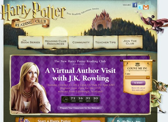 El Club de lectura online de harry potter