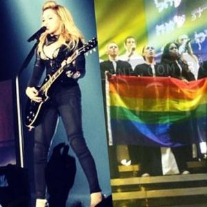 Detalle del concierto de Madonna en Rusia