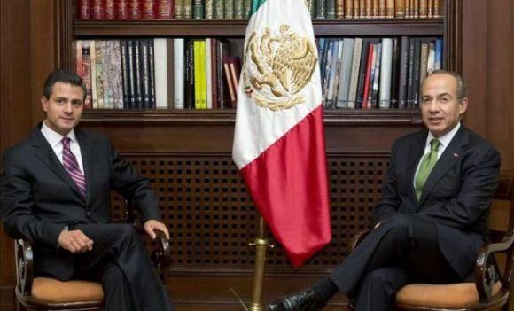 Transición de gobierno Calderón - Peña Nieto