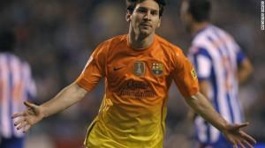 Messi celebrando