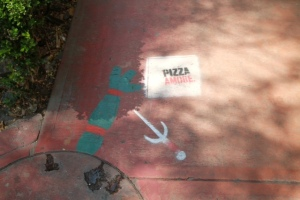 street art pizza amore mitoteros