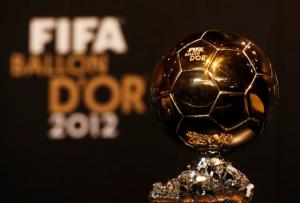 The FIFA Men's Ballon d'Or trophy of the Year 2012 is seen during a news conference before the FIFA Ballon d'Or 2012 soccer awards ceremony in Zurich